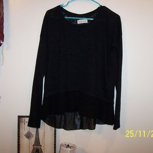 ABERCROMBIE & FITCH BLACK TUNIC TOP XL